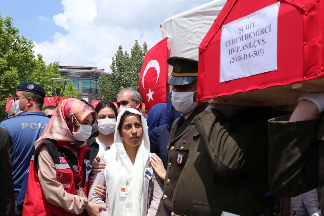 Şehit Ethem Demirci, Samsun'da son yolculuğuna uğurlandı