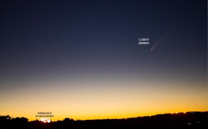 Neowise kuyruklu yıldızı Tekirdağ semalarında görüntülendi