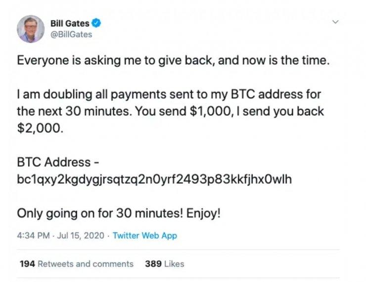 Twitter'ı hackleyenler 110 bin dolar topladı