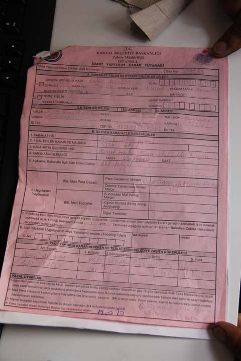 Kullanmadığı aracın 5 bin TL cezası kendisine uygulandı! Belediyeye isyan etti