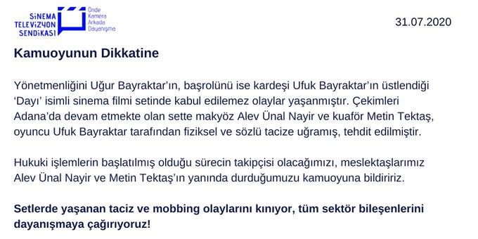 Ünlü oyuncu Ufuk Bayraktar hakkında taciz ve şiddet iddiaları!