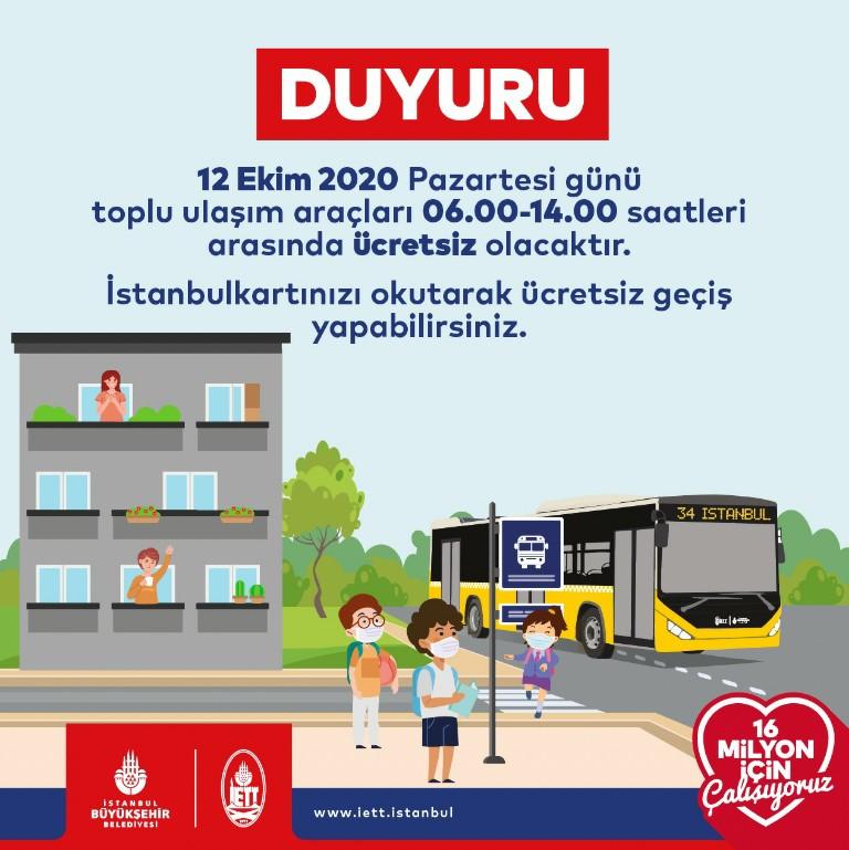 İstanbul'da toplu taşıma yarın ücretsiz mi? İstanbul'da toplu taşıma yarın bedava mı?