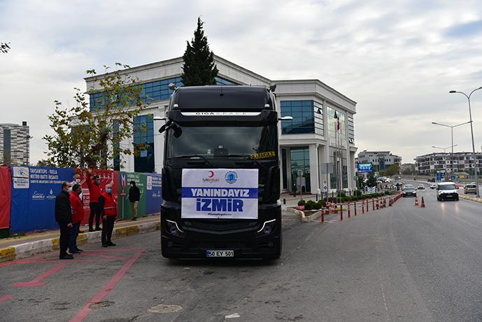 Tuzla Belediyesi, İzmir'deki depremzedelerin yardım çığlıklarına ses verdi!