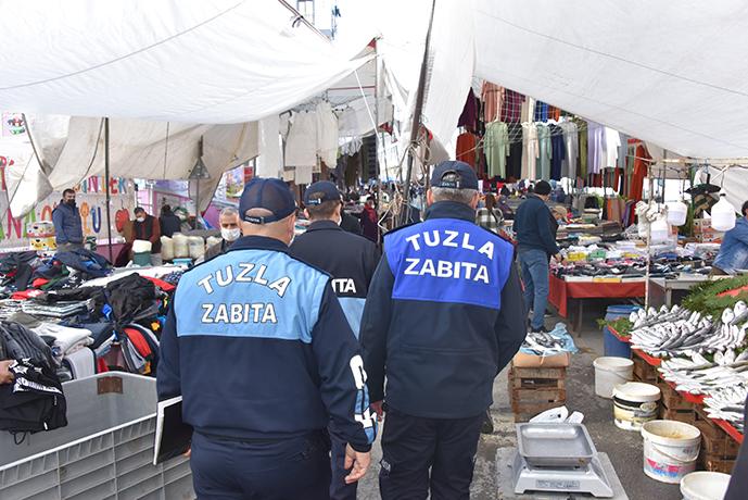 Tuzla'da denetimler sert geçti! kurallara uymayan esnafa ceza yağdı