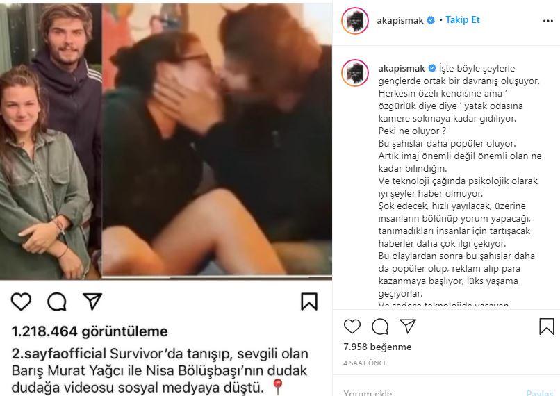 Aşkım Kapışmak, Barış Murat Yağcı ile Nisa Bölükbaşı için ne dedi?