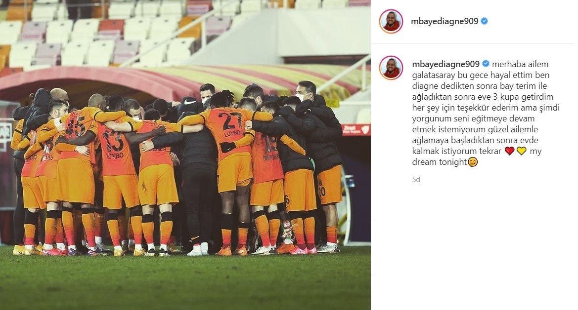 Mbaye Diagne'nin '3 kupalı' paylaşımı sosyal medyada gündem oldu!