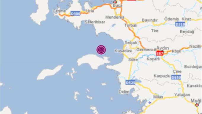 İzmir Seferihisar'da ilçesinde4.0 şiddetinde deprem