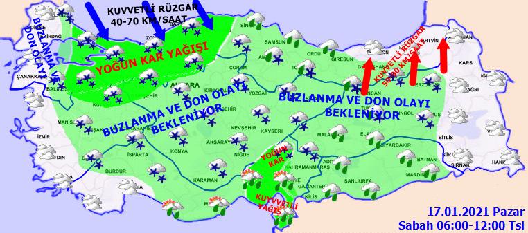 İstanbul'a beklenen kar geldi! Meteoroloji peş peşe uyarılar yaptı! İşte 17 Ocak hava durumu