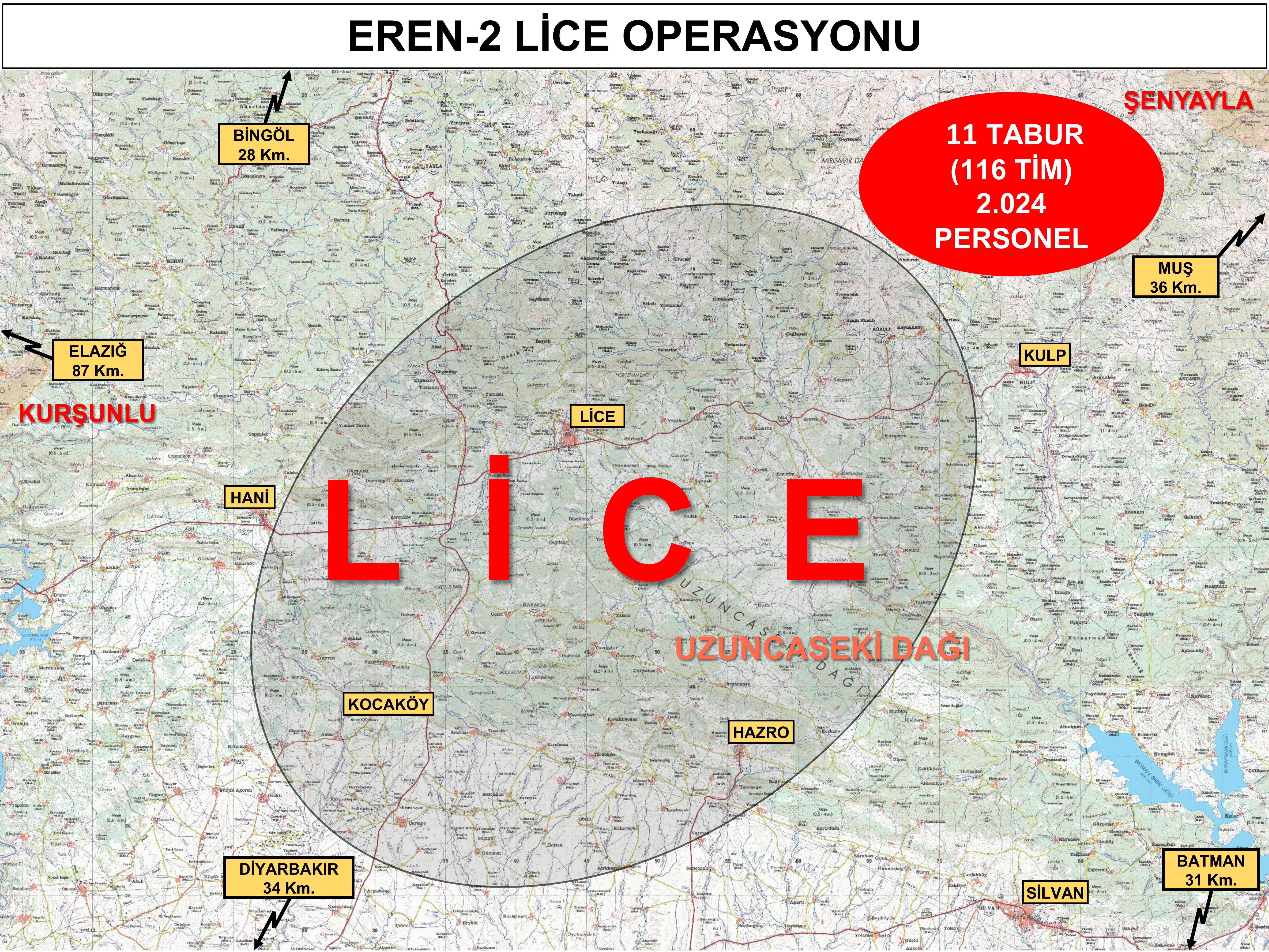 Son dakika| İnleri başlarına yıkılacak! İçişleri Bakanlığı duyurdu: Eren -2 Lice Operasyonu başladı
