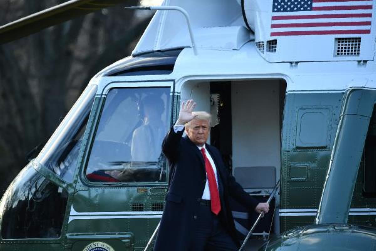 Son dakika  ABD'de tarihi an: Donald Trump dönemi sona erdi, Beyaz Saray'dan ayrıldı