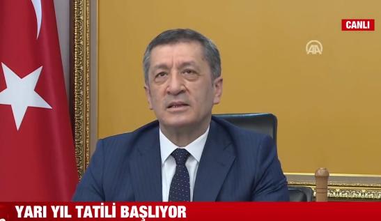 Milli Eğitim Bakanı Ziya Selçuk: 15 Şubat'ta sizi okullarda görmek istiyoruz