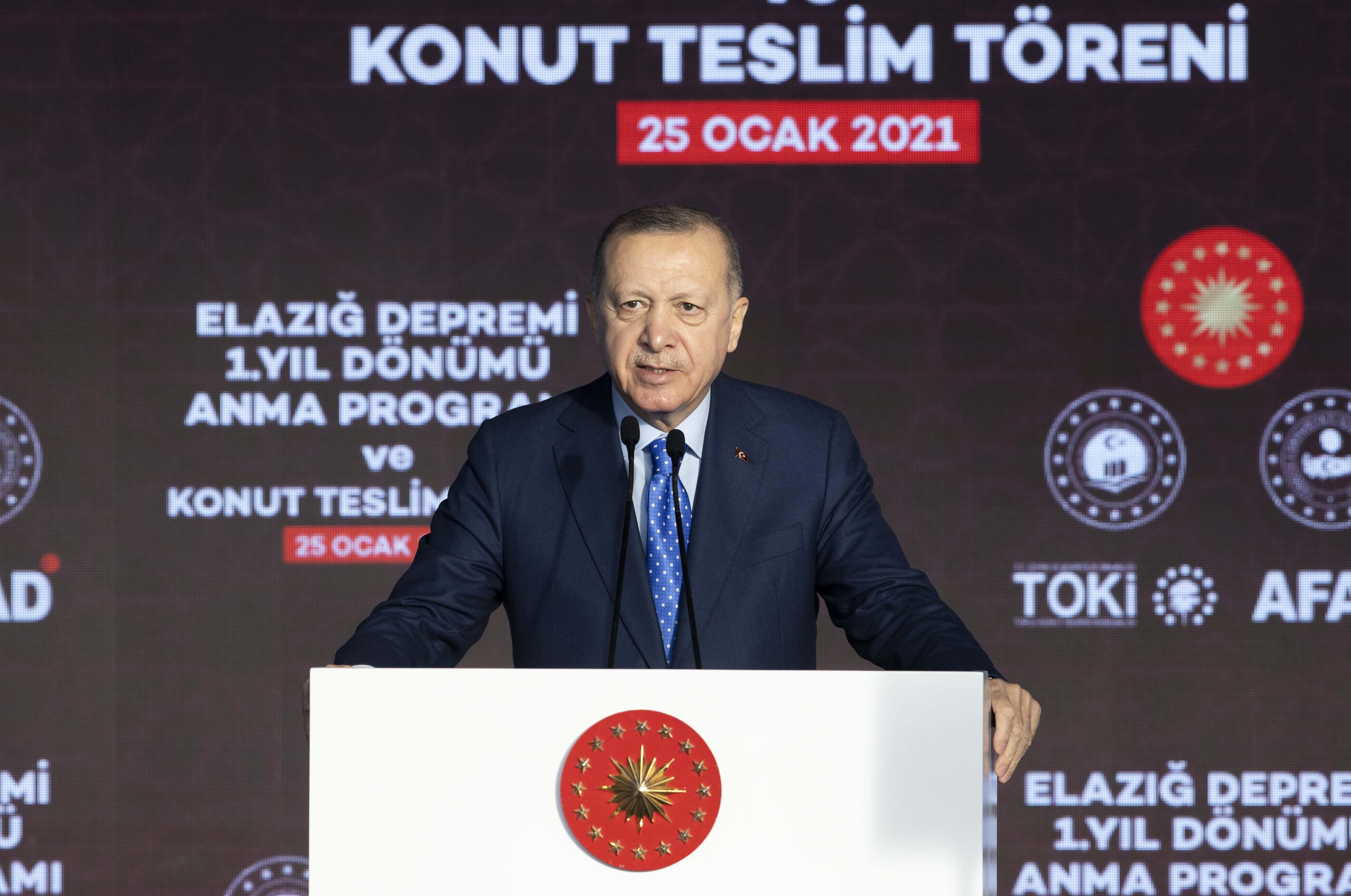 Cumhurbaşkanı Erdoğan, Elazığ'da konuştu: Deprem konutları 6 aya bitecek