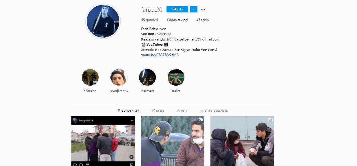 Youtuber Fariz kimdir? Fariz Bahşeliyev Youtube videosu kurgu mu? Fariz instagram hesabı nedir?