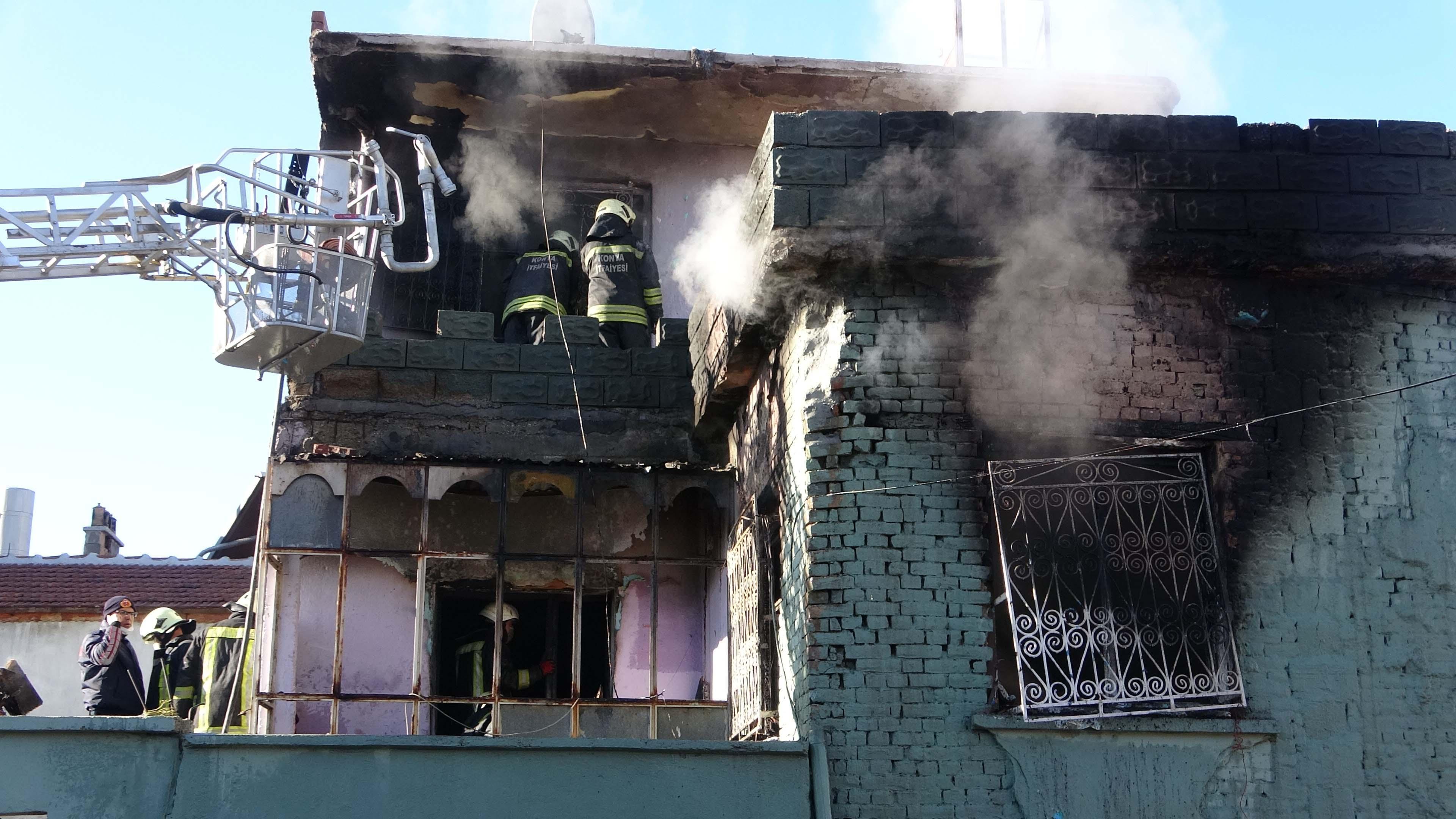 Konya'da yürek yakan yangın! Anne ve oğlu hayatını kaybetti