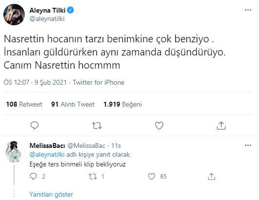Ünlü şarkıcı Aleyna Tilki sosyal medyada alay konusu oldu