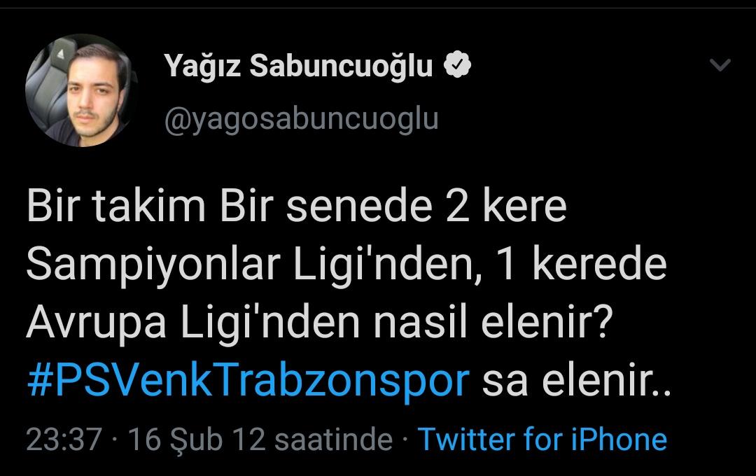 TRT Spor muhabiri Yağız Sabuncuoğlu'nun Trabzonspor tweeti tepki çekti