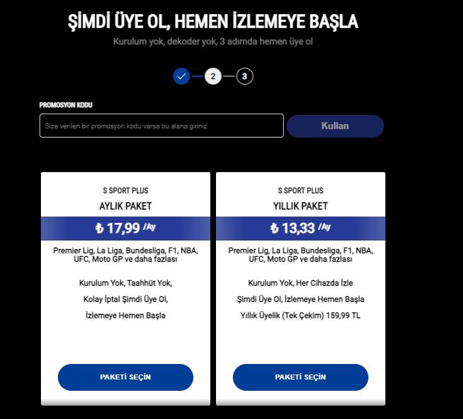 S Sport Plus üyelik ücreti ne kadar? S Sport Plus üyeliği nasıl alınır?