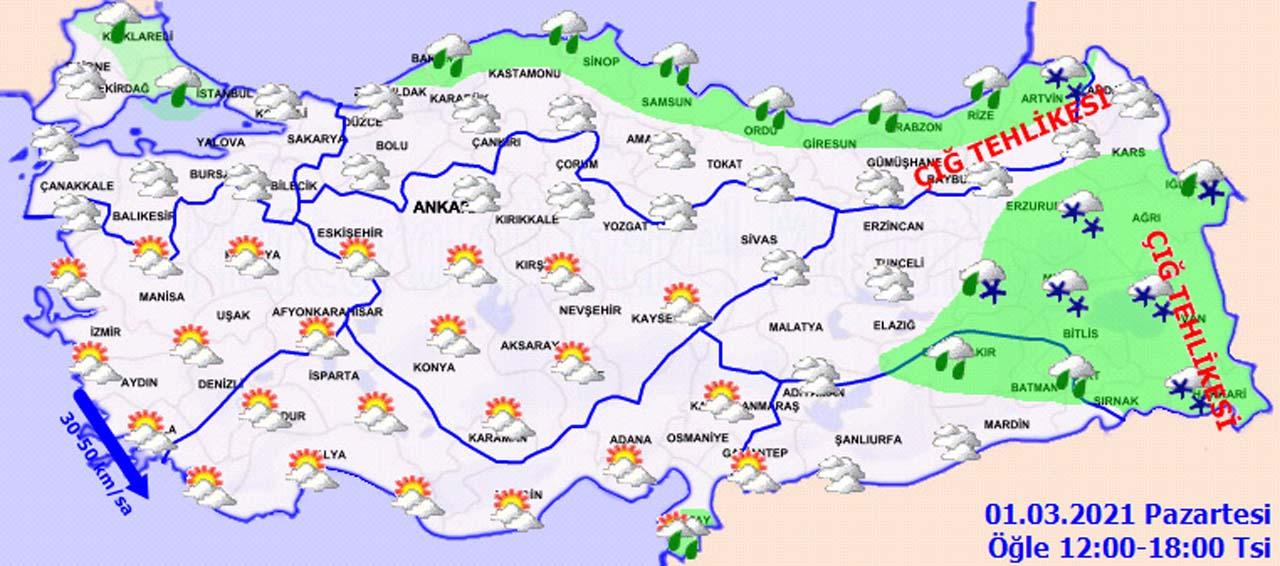 Meteoroloji'den Marmara dahil bir çok bölge için uyarı: Kar geri geldi!