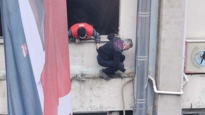 Rize'de görenleri hayrete düşüren iş güvenliği önemli!