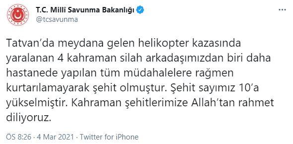 Son dakika   Bitlis'in Tatvan İlçesi'nde helikopter düştü!
