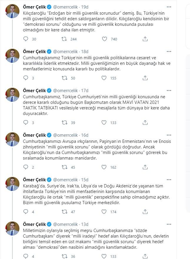 Son dakika | AK Parti Sözcüsü Çelik'ten Kılıçdaroğlu'na tepki
