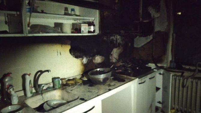 Patates kızartmak isterken evini yaktı!