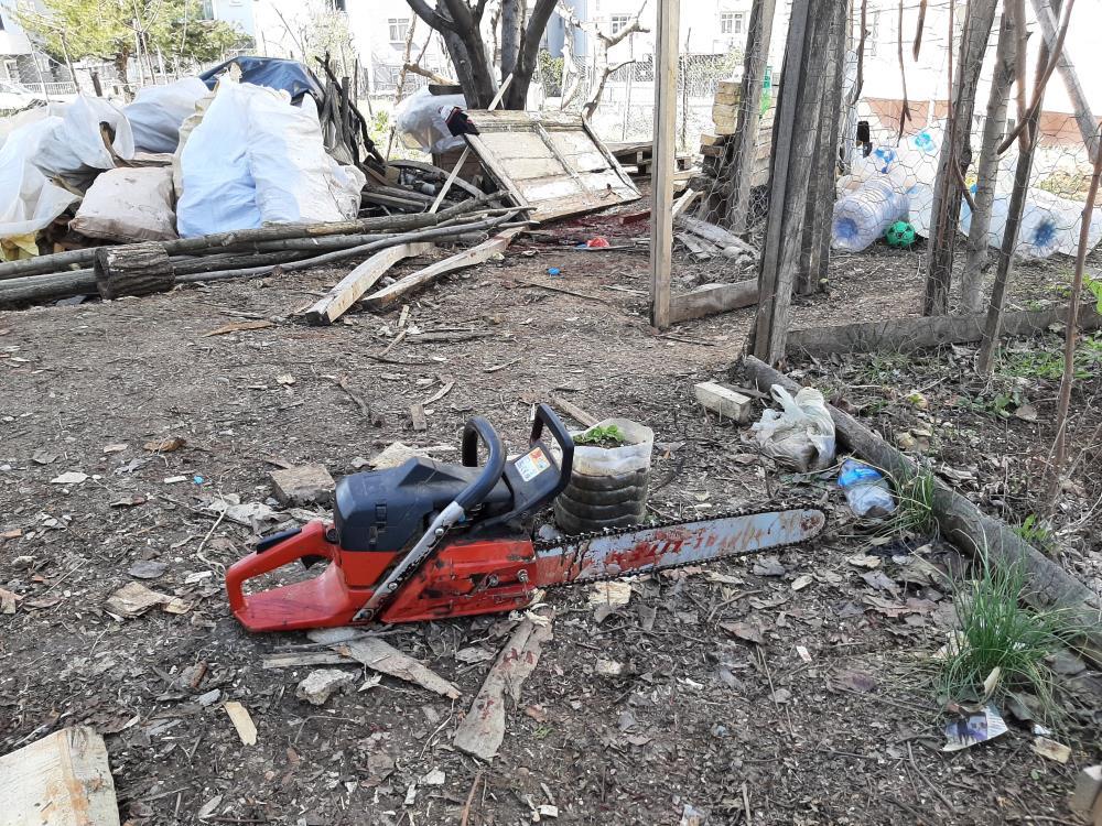 Bahçede motorlu testereyle odun kesmek istedi, boynundan ağır yara alan genç hayatını kaybetti