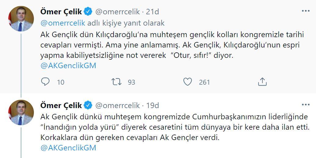 AK Parti Sözcüsü Ömer Çelik'ten Kılıçdaroğlu'na ilişkin açıklama