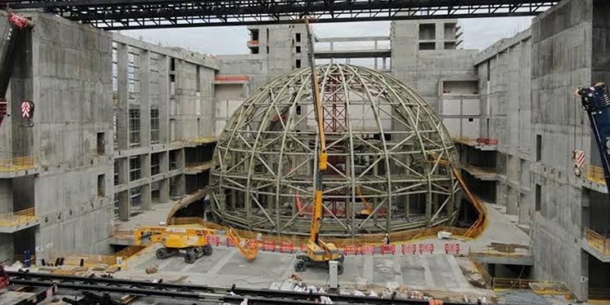 Atatürk Kültür Merkezi inşaatında tavan çöktü! 4 işçi yaralandı