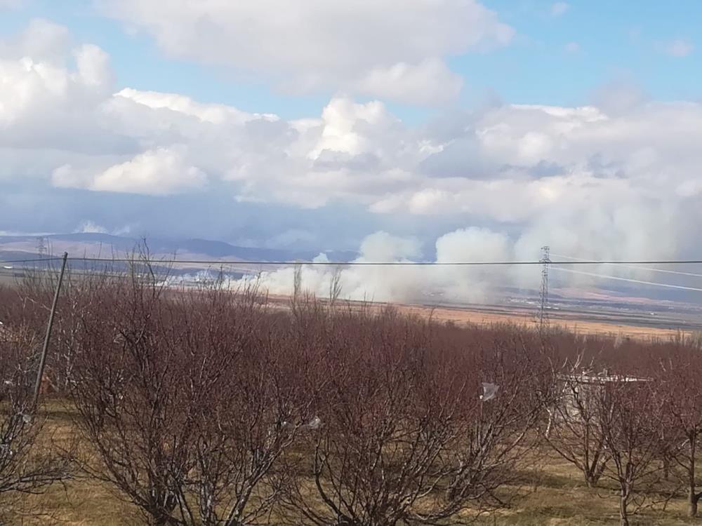 Afyonkarahisar'daki Eber gölünde bir kez daha yangın çıktı