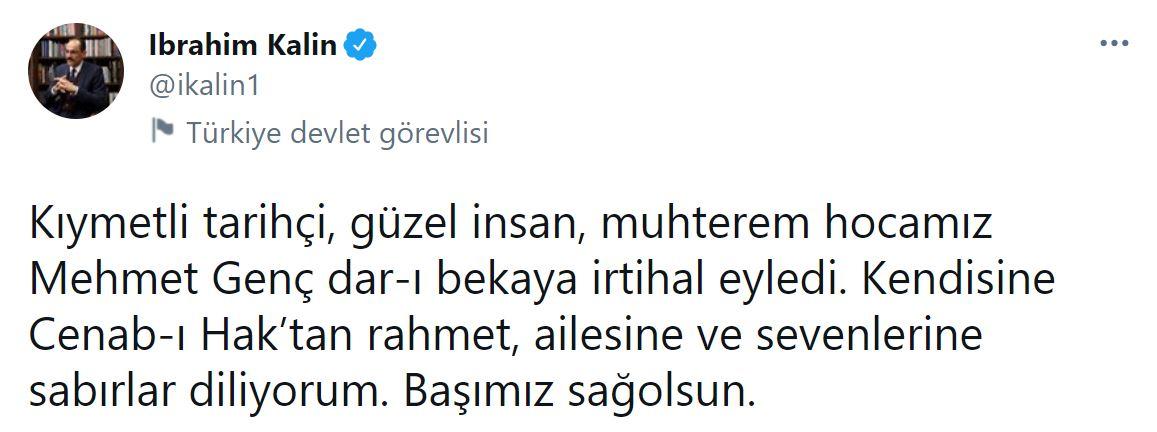 Son dakika | Tarihçi Mehmet Genç yaşamını yitirdi