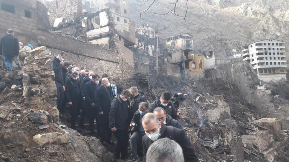 Bakan Kurum'dan Artvin yangınına ilişkin açıklama: 193 yapıda hasar tespit edildi!