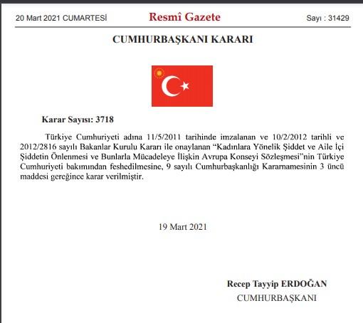 Türkiye İstanbul Sözleşmesinden neden ayrıldı? İstanbul Sözleşmesi neden feshedildi?