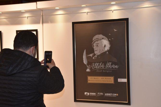 Pendik Belediyesi'nin düzenlediği sergide Atilla İlhan'ın hayatına yer verildi!