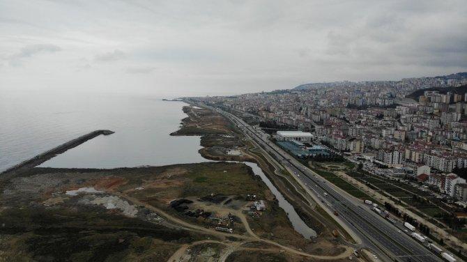 Trabzon sahilinin değişimi: Dolgu çalışmaları denizi uzaklaştırdı