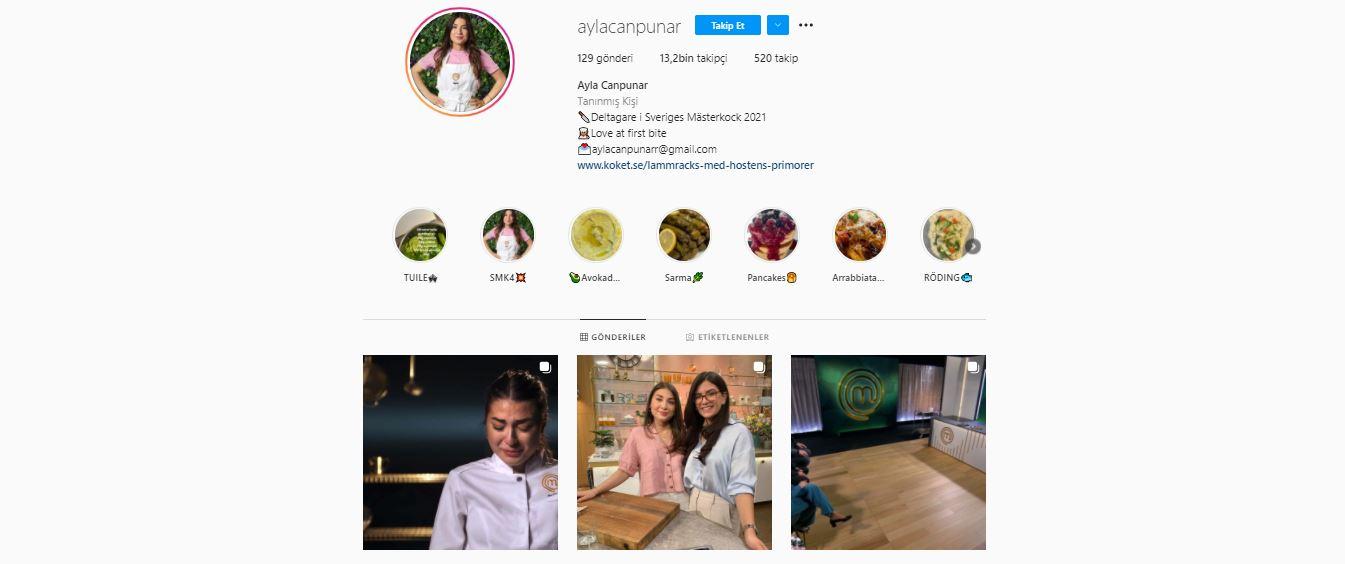 Ayla Canpunar kimdir? Nereli ve kaç yaşında? | Ayla Canpunar instagram hesabı nedir? | İsveç'teki Masterchef'te kaçıncı oldu?