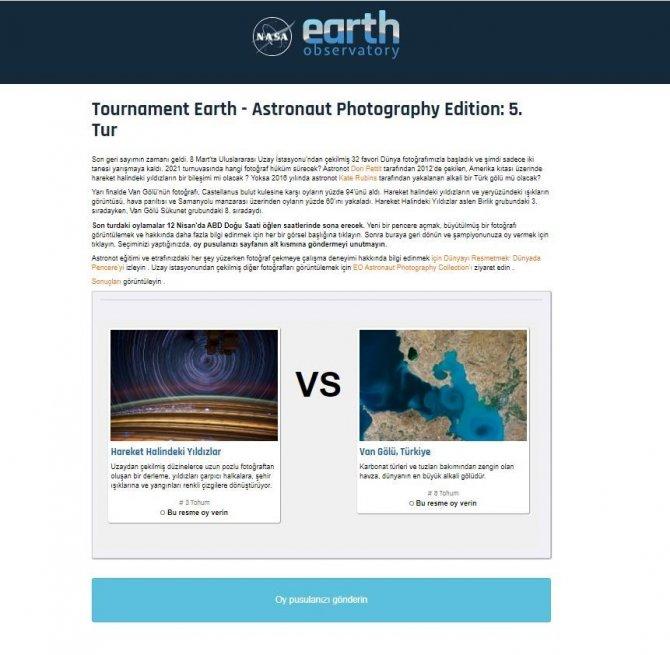 Van Gölü'nün uzaydan çekilen görseli fotoğraf yarışmasında finalde