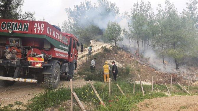 Yaşlı adam ormanda yangın çıkardı, çalılar ile söndürmeye çalıştı!