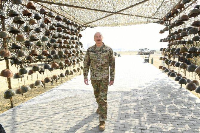 Ermenistan ordusunun ganimetleri burada sergilenecek, Aliyev, Askeri Ganimet Parkı'nın açılışını yaptı