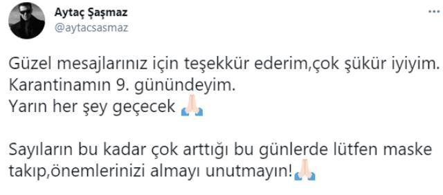 Hekimoğlu'nun Emre'si Aytaç Şaşmaz koronavirüse yakalandı!