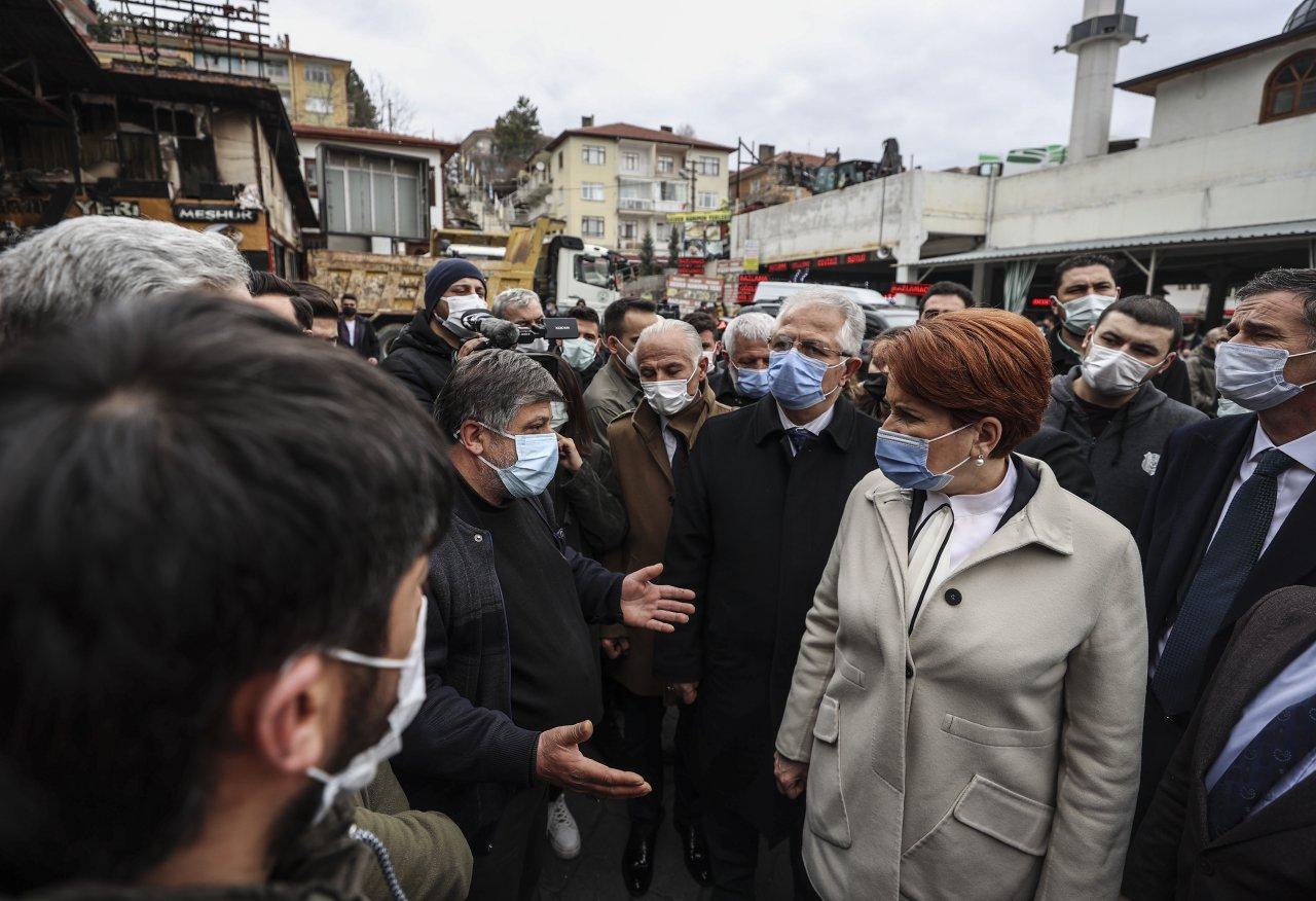 """Mağdur Kasaplar Çarşısı esnafını ziyaret etti """"Muhalefet olarak üzerimize düşeni yapmak için buradayız"""""""