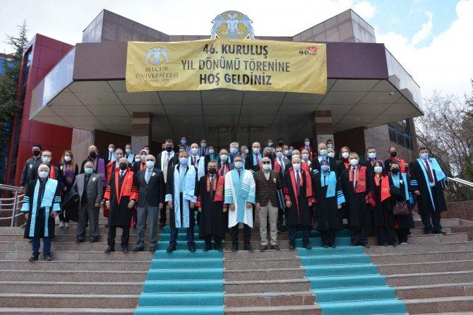 Selçuk Üniversitesinin 46. yaşı düzenlenen törenle kutlandı