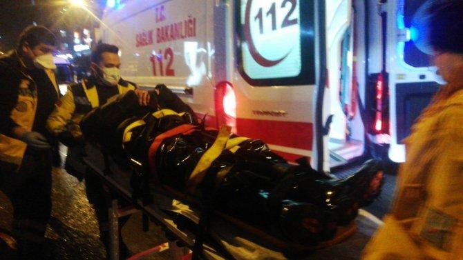 Zonguldak'ta bir otomobilin motosiklet ile çarpıştığı kazada bir kişi yaralandı