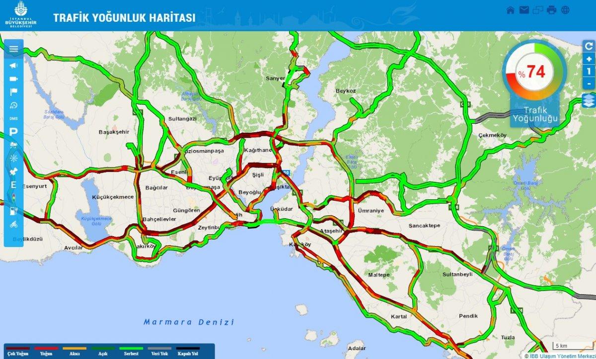 İstanbul'da trafik yoğunluğu! Yarın da böyle olması halinde iftira yetişmek zor