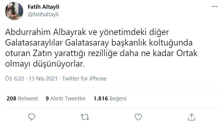 Fatih Altaylı'dan dikkat çeken paylaşım: Daha fazla zarar vermeden doktor raporuyla görevden alınmalı