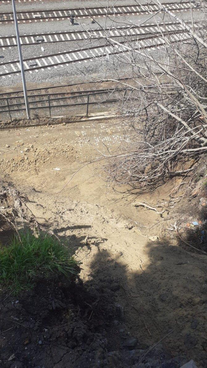 Zonguldak'ta gerçekleşen heyelan sonrası istinat duvarı çalışmaları başladı