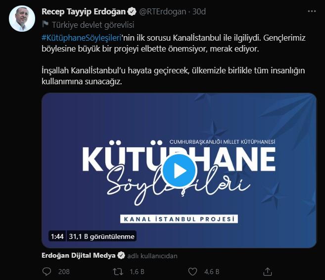 SON DAKİKA Cumhurbaşkanı Erdoğan dan Kanal İstanbul açıklaması