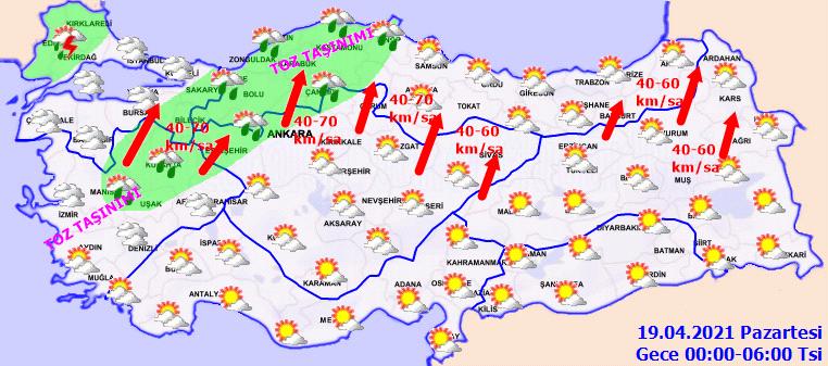 Meteoroloji yetkilileri il il uyardı: Toz taşınımı, fırtına, çamur yağmuru! İşte 18 Nisan Pazar il il, haritalı hava durumu!