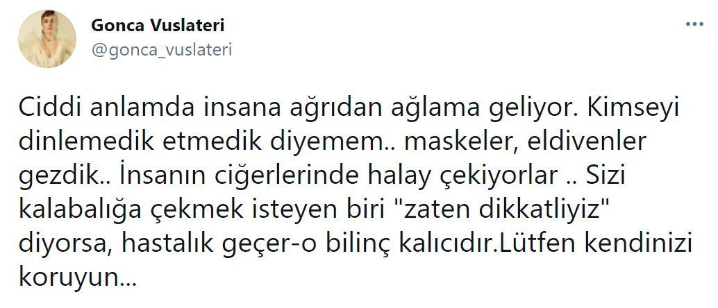 Gonca Vuslateri üzücü haberi sosyal medya hesabından duyurdu!