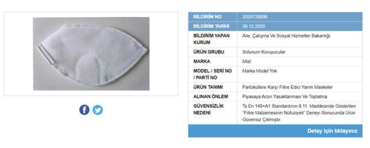 Güvensiz ürünler listesi maske markaları ne?   Gübis güvensiz maske markaları hangileri?   Güvensiz maskeler listesi